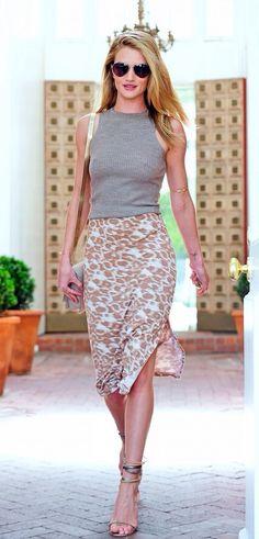 Rosie Huntington-Whiteley #casual #chic