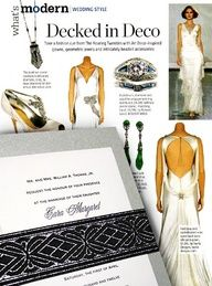 Love the sophisticated look and feel of these art deco styled items. Art Deco Wedding Inspiration, Fashion Inspiration, Wedding Designs, Wedding Styles, Art Deco Wedding Invitations, Invites, Glamorous Wedding, 1930s Wedding, Floral Texture