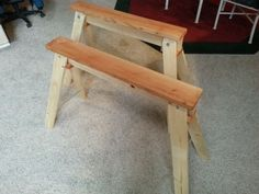 Collapsable and Portable Sawhorses . I've been dying for someone to make instructable for these things Woodworking Shop, Woodworking Projects, Sawhorse Plans, Got Wood, Shop Organization, Wood Plans, Cool Tools, Home Projects, Wood Crafts