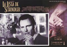 """""""Schindler's List"""" Italian lobby card, 1993.  Liam Neeson as Oskar Schindler."""