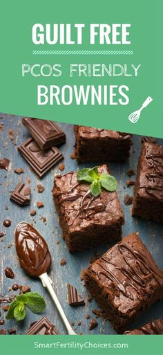 Finally a chocolate brownie recipe that is specifically designed for women with PCOS. via @smartfertility
