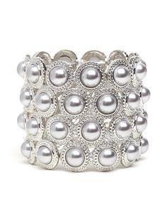 elegant pearl motif.