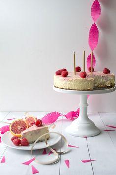 Blood Orange & Raspberry Cheesecake via Sift & Whisk