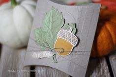 www.conibaer.de - Fall Thank you box / herbstliches Danke #stampinup #acornythankyou #herbstgrüße