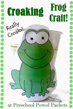 Croaking Frog Craft and Halloween Read & Play   Preschool Powol Packets