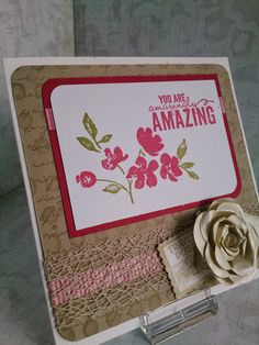 KIT's Cards, Stampin' Up!, stampin up, Painted Petals