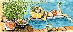 Verveine Eis mit weissen Pfirsichen Something Sweet, Dessert, Painting, Longing For You, Ice, Summer, Deserts, Painting Art, Postres