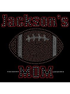 "Discount Radiant ""Football Mom"" 6.25""x 6"" Rhinestone Applique Iron-On SP10 *Personalize With Your Name and Colors 
