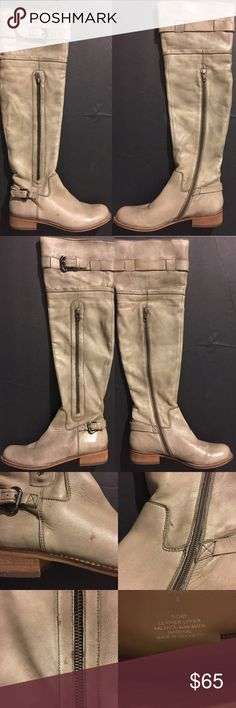Steven by Steve Madden Sabra Boots Steven by Steve Madden Sabra Over Knee Biker Boots Size 8 Ivory Soft leather, in color Ivory Steve Madden Shoes Over the Knee Boots