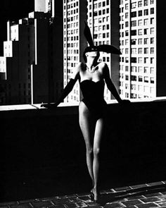 """Helmut Newton : """"Elsa Peretti in a Bunny Costume by Halston"""", photo; Exhibition at Grand Palais, Paris (April Happy Photography, National Photography, Boudoir Photography, Photography Tips, Fashion Photography, Photography Backdrops, Photography Business, Photography Tutorials, Famous Photography"""