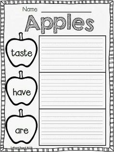 Primary Chalkboard: We Love Apples!!!  FREEBIE
