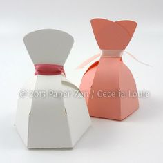 Bride Dress and Groom Tuxedo Party Favor Boxes