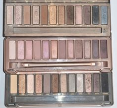 Urban Decay Naked, Naked2, and Naked3.
