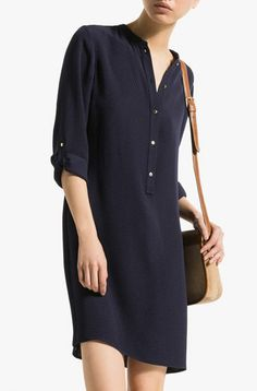 NAVY JACQUARD DRESS - View all - Dresses - WOMEN - United States