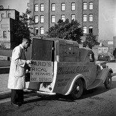 Woodward's truck for AWA Radio Repair Service. Max Dupain photo, c 1946.