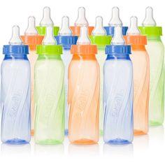 Evenflo Classic Twist 8oz Bottle, Tinted, Unisex, 12-Pack, BPA-Free - Walmart.com