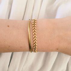Rogn fiskebensarmbånd by Glemmegei Messing, Bracelets, Gold, Jewelry, Jewlery, Jewerly, Schmuck, Jewels, Jewelery