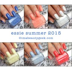 Essie Summer 2015 Collection. All the swatches at www.imabeautygeek.com