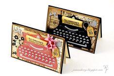 Joanna Krogulec: Cards with Vintage Typewriters Vintage Suitcases, Vintage Typewriters, Vintage Luggage, Retro Typewriter, Tim Holtz Dies, Paper Craft Making, Handmade Card Making, Scrapbook Cards, Scrapbooking