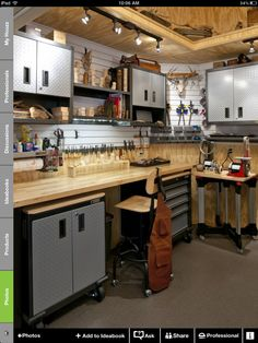 Garage Idea: Workbench Setup