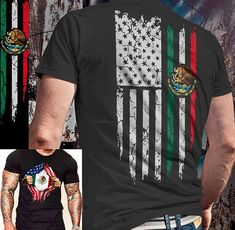 Mexican Shirts, Mexican Flags, Mexican American Flag, Mexican Artwork, Mexican Art Tattoos, Aztec Culture, Brown Pride, Chicano Art, Raiders