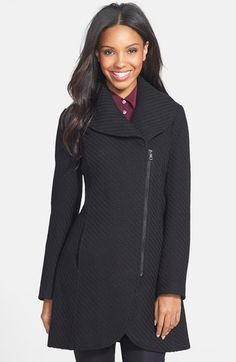 Jessica Simpson Braided Shawl Collar Coat (Online Only) | Nordstrom