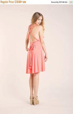 ¡¡¡ON SALE!!! JUST 1 WEEK EXCLUSIVE SALES Short Infinity dress, Coral Bridesmaid infinity dress, Peach Bridesmaid Dress, Infinity Dress peach, Bridesmaid Dresses, clothing, weddings