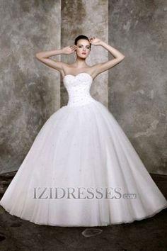 Ball Gown Strapless Organza Beach Wedding Dresses