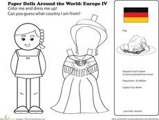 A New Coat for Anna - German Paper Doll Worksheet