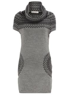 Dorothy Perkins - Grey print cowl neck dress - $55.00