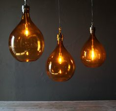 Amber Wine Globes