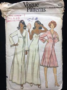 ddcc5bac67 Vogue 9197 Misses Long Short Gown Robe Sewing Pattern Size 12   VoguePatterns Vogue Muster