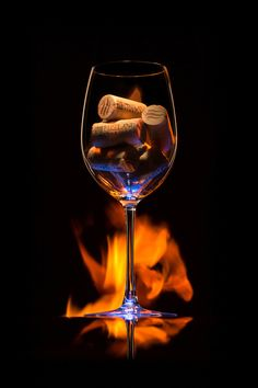 Wine glass with fire product shot by Andre Jabali Glass Photography, Creative Photography, Foto Top, Wine Painting, Wine Art, Wine And Spirits, Creative Photos, Commercial Photography, Fine Wine