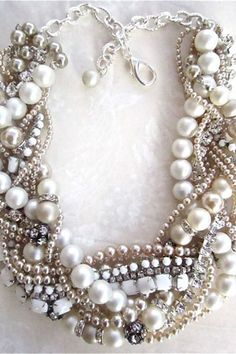 Mixed colour pearl necklace | brides of adelaide magazine