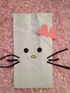 DIY hello kitty goodie bag for kid party