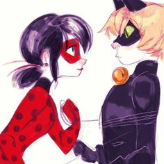 In between commissions I threw some color on this sketch. #miraculousladybug #chatnoir #cintiq