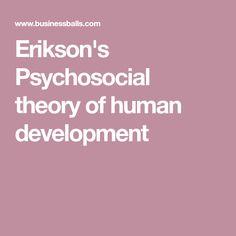 Erikson's Psychosocial theory of human development