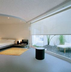 Roller blinds have the benefit of covering this large bedroom window