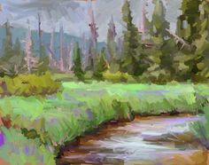'Glade Creek-Lolo Pass' ipad sketch  Posted by benhaggett on June 29, 2013