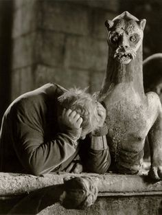 Charles Laughton as Quasimodo in The Hunchback of Notre Dame (1939, dir. William Dieterle).