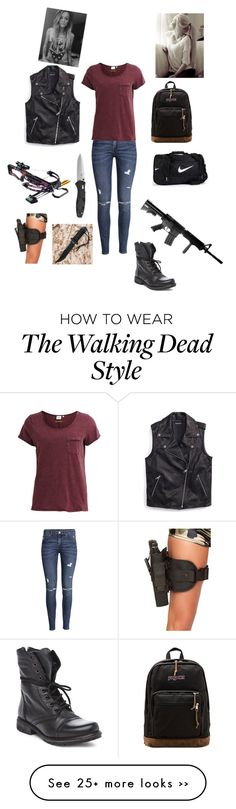 """""""The Walking Dead"""" by outsider18winston on Polyvore featuring H&M, Object Collectors Item, Steve Madden, Tommy Hilfiger, JanSport and NIKE"""