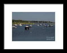 Docked Boats Framed Print by Scott Hervieux.  All framed prints are professionally printed, framed, assembled, and shipped within 3 - 4 business days and delivered ready-to-hang on your wall. Choose from multiple print sizes and hundreds of frame and mat options.