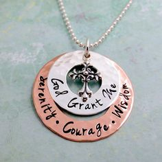 Hey, I found this really awesome Etsy listing at https://www.etsy.com/listing/180045767/serenity-prayer-necklace-hand-stamped