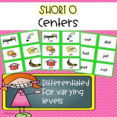 These differentiated short o centers will help students master the short o sound and short o word families! With clear graphics and easy-to-read font, these centers will be a student favorite! These centers will allow you to differentiate your lessons and centers with ease.There are six sorts with sorting mats, recording sheets and three types of differentiation:-cards with just pictures-cards with pictures and words-cards with just words