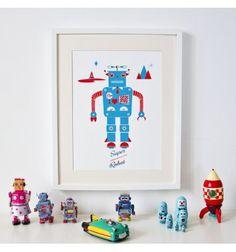 Affiche Robot - Sérigraphie - L'arbre aux Souhaits
