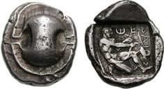 G177 A Rare Greek Silver Stater of Thebes (Boeotia)   by Ancient Art
