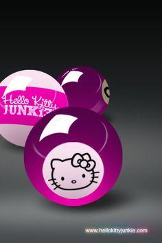 6f63e303ec06 Hello Kitty Junkie Pool Balls iPhone Wallpaper – Hello Kitty Junkie