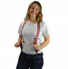Suspenders for Men: Edelweiss Pattern
