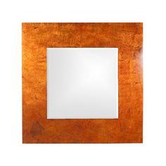 Howard Elliott Kayla Framed Mirror in Orange