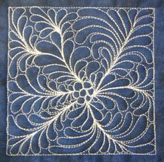 The Free Motion Quilting Project: Day 86 - Feather Flower